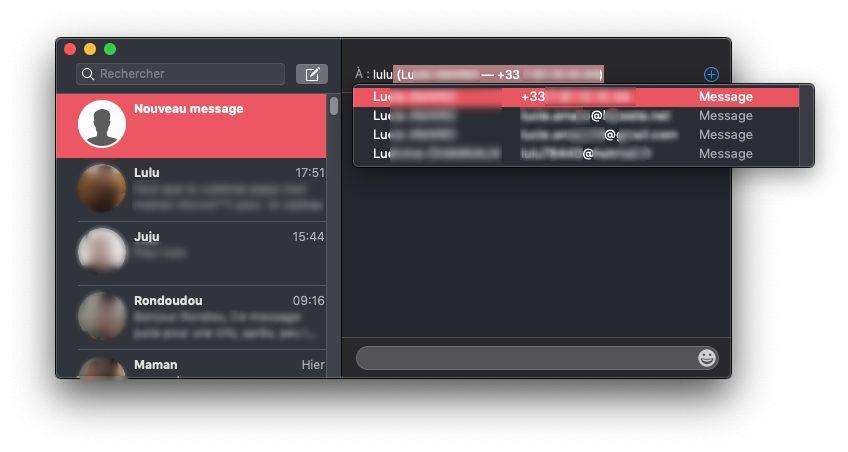 destinataire messages mac Comment envoyer et recevoir des SMS et Messages sur Mac
