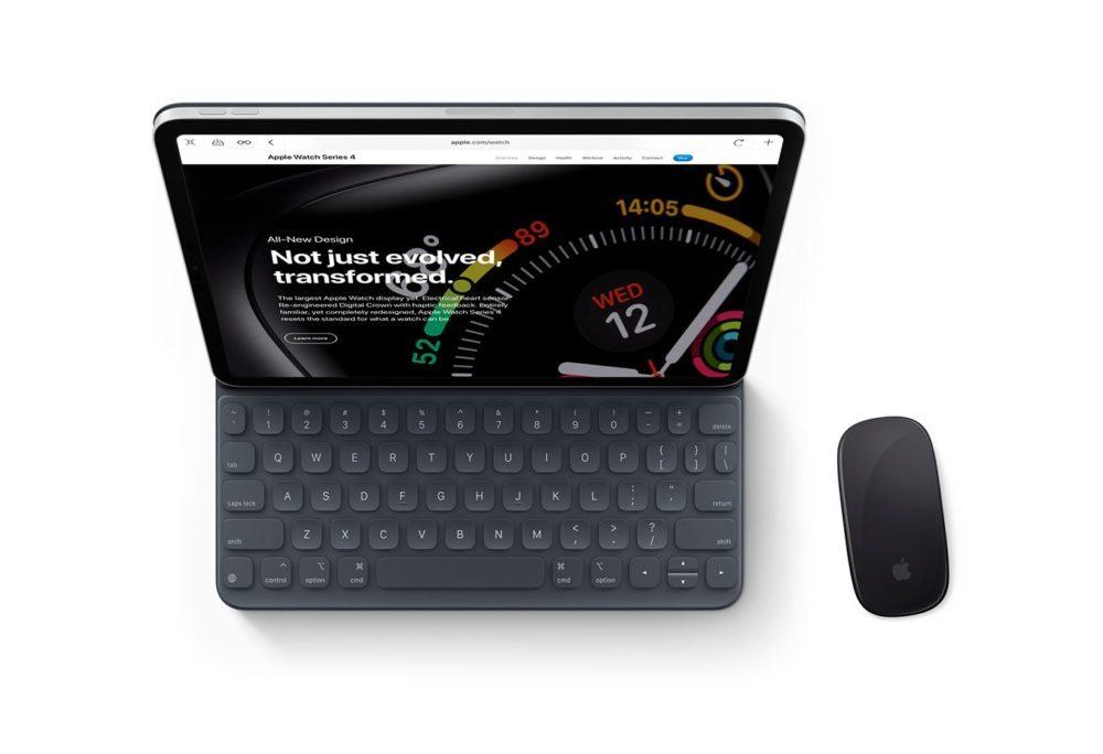 iOS 13 Concept Souris iPad 1 1000x684 Un concept iOS 13 imagine un multitâche amélioré, le support dune souris sur iPad et plus