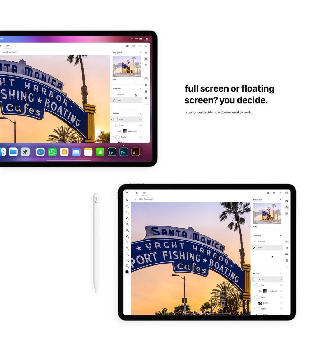 iOS 13 Concept Souris iPad 7 1000x1114 Un concept iOS 13 imagine un multitâche amélioré, le support dune souris sur iPad et plus