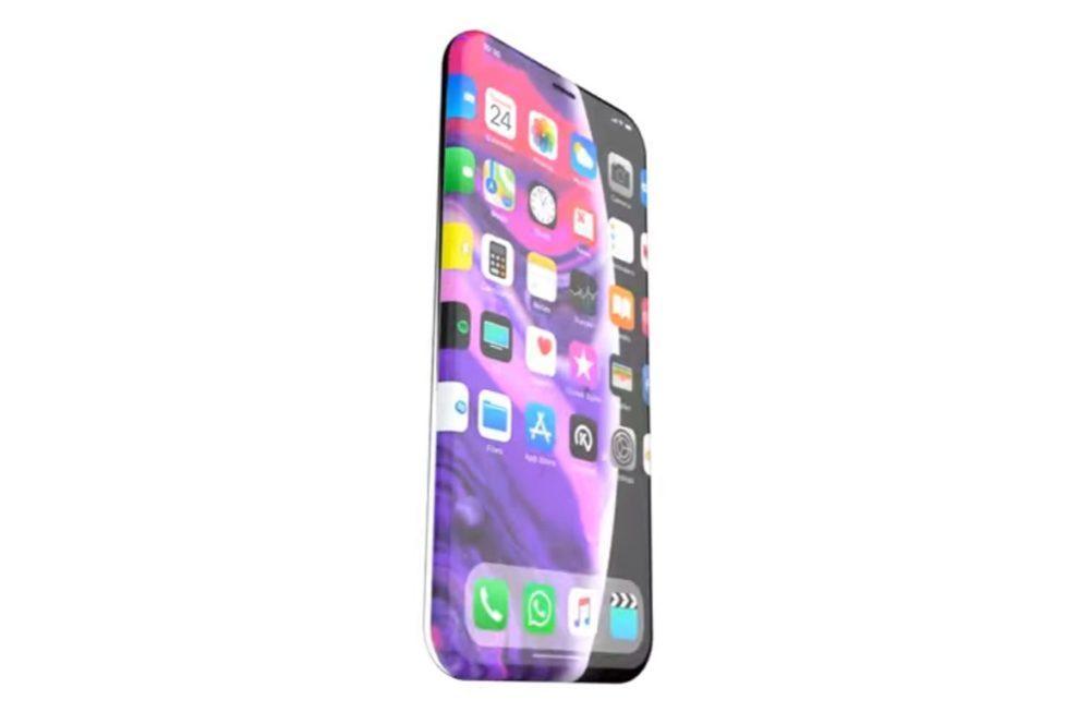 iPhone XII Concept 1000x653 Un concept iPhone XII sans boutons avec un écran totalement sans bordures
