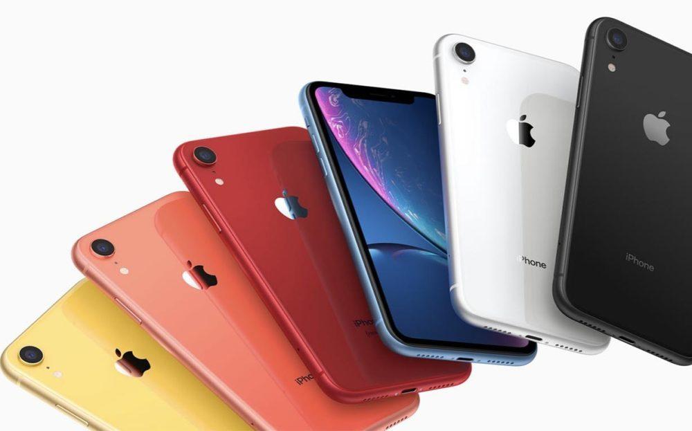 iPhone XR 6 Coloris 1000x623 iPhone XR 2019 : 2 nouveaux coloris seront proposés pour remplacer le corail et le bleu