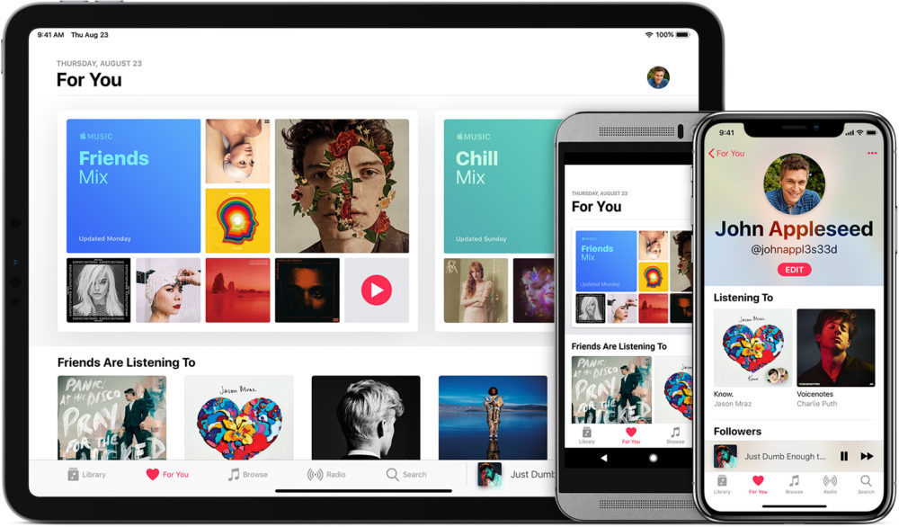 ios12 ipad pro 11 iphone x android apple music 1000x586 Apple Music : Apple diminue le prix de labonnement en Inde