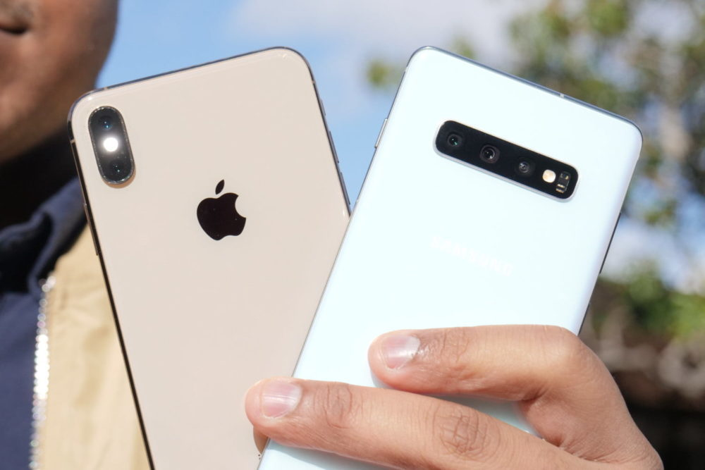 iphone xs max vs galaxy s10 plus 1000x667 États Unis : liPhone sest mieux vendu que les Galaxy et les autres smartphones au 1er trimestre