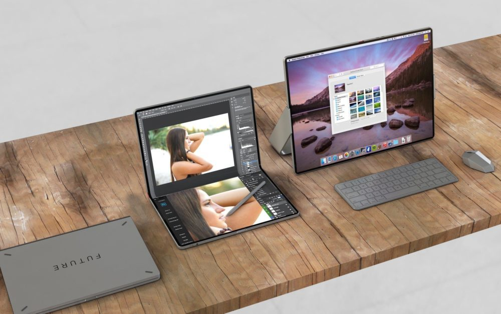 Un concept imagine un hybride iPad/Mac pliable avec le support de la souris et lApple Pencil