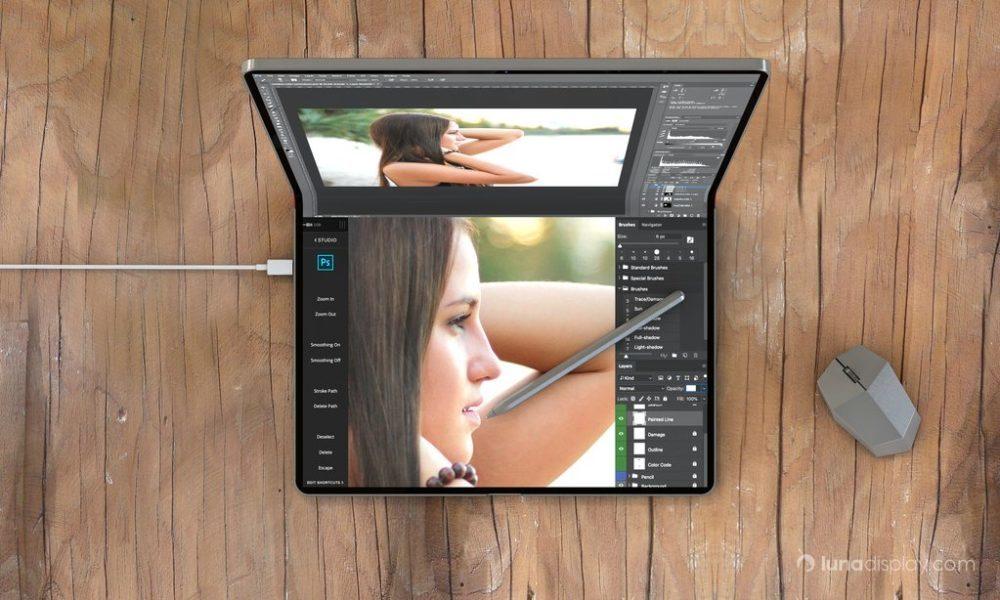 mac ipad pliable hybride 2 1000x600 Un concept imagine un hybride iPad/Mac pliable avec le support de la souris et lApple Pencil