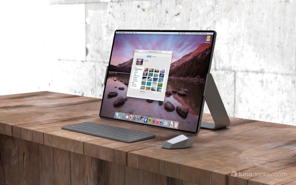 mac ipad pliable hybride 3 1000x625 Un concept imagine un hybride iPad/Mac pliable avec le support de la souris et lApple Pencil