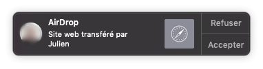 notification lien airdrop mac Copier coller Mac iPhone : le guide complet de Handoff / Continuité