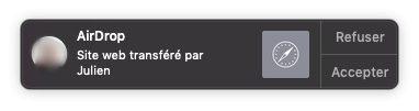 notification lien airdrop mac Copier coller Mac iPhone : le guide complet de Handoff / Continuité