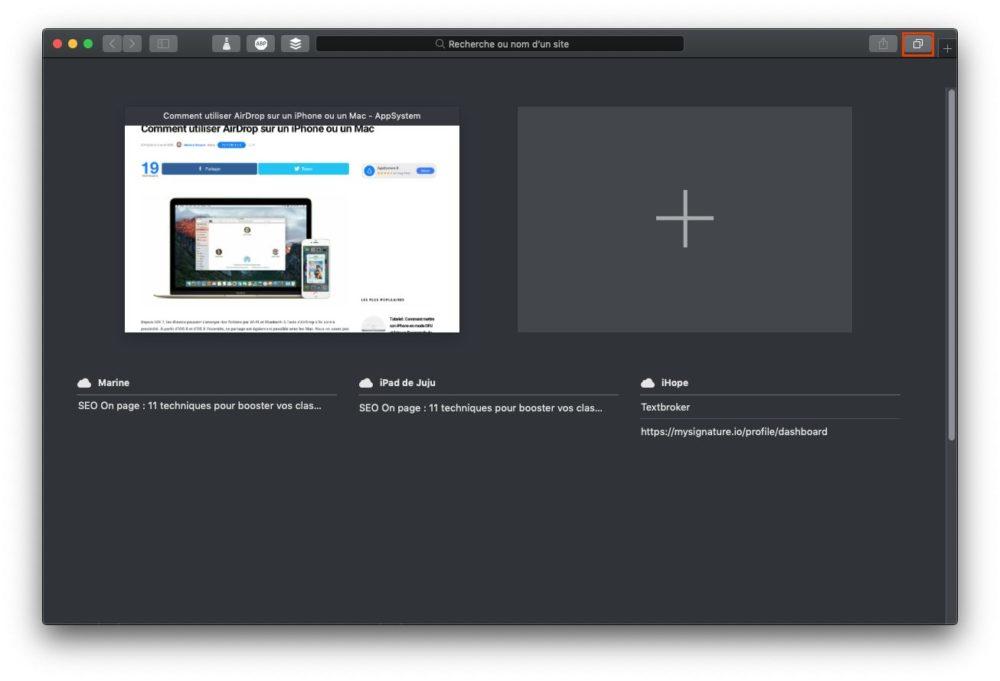 onglets icloud mac Copier coller Mac iPhone : le guide complet de Handoff / Continuité