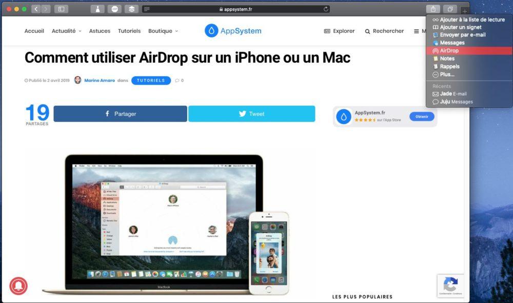 partage lien airdrop Copier coller Mac iPhone : le guide complet de Handoff / Continuité