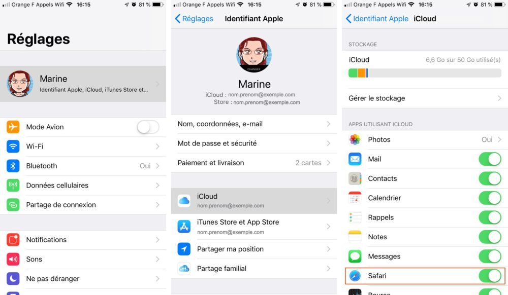reglages icloud iphone Copier coller Mac iPhone : le guide complet de Handoff / Continuité