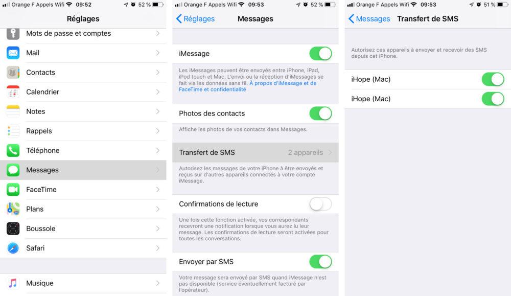 transfert sms iphone Comment envoyer et recevoir des SMS et Messages sur Mac