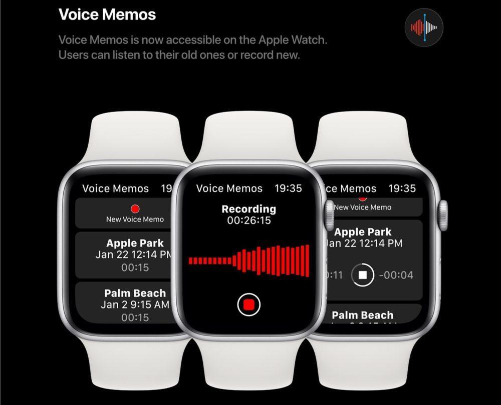 watchOS 6 Concept App Dictaphone 1000x810 watchOS 6 : un concept invente de nouveaux cadrans, des anneaux dactivité revus et plus