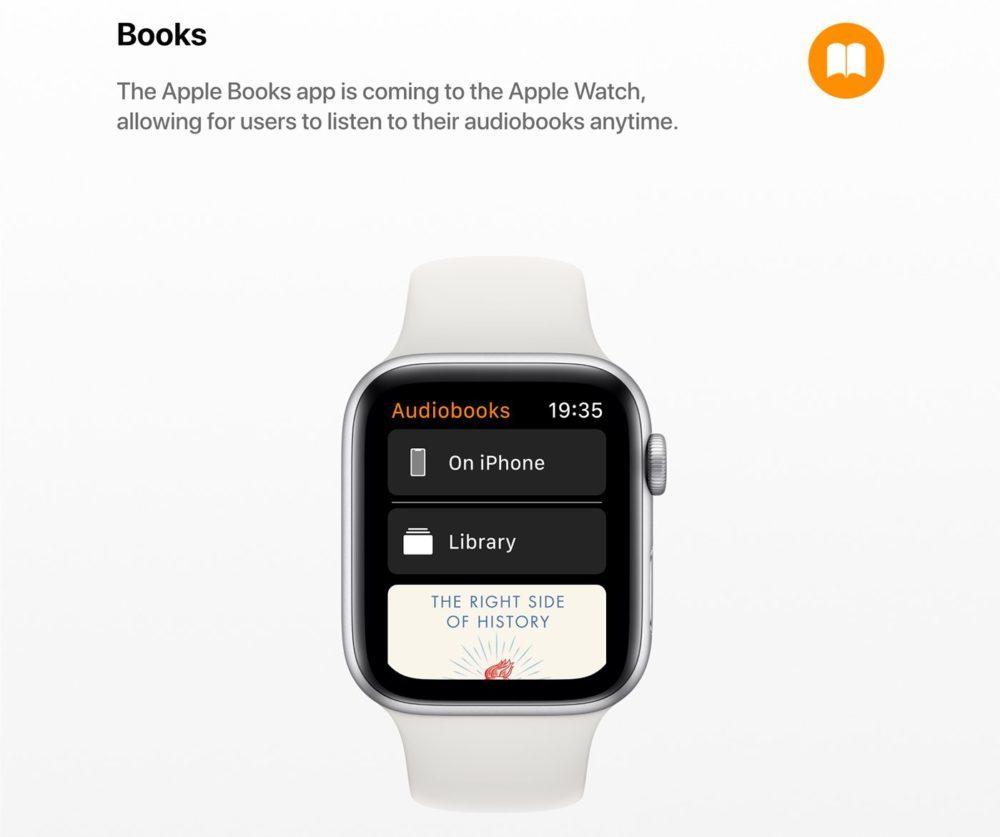 watchOS 6 Concept App Livres 1000x837 watchOS 6 : un concept invente de nouveaux cadrans, des anneaux dactivité revus et plus