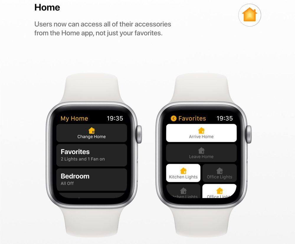 watchOS 6 Concept App Maison 1000x828 watchOS 6 : un concept invente de nouveaux cadrans, des anneaux dactivité revus et plus