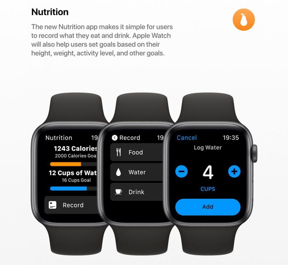 watchOS 6 Concept App Nutrition 1000x918 watchOS 6 : un concept invente de nouveaux cadrans, des anneaux dactivité revus et plus