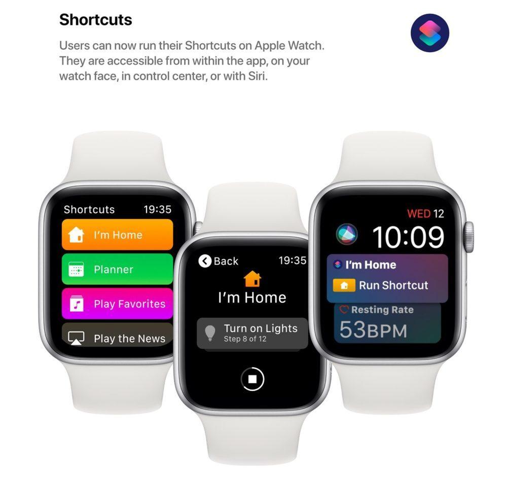 watchOS 6 Concept App Raccourcis 1000x941 watchOS 6 : un concept invente de nouveaux cadrans, des anneaux dactivité revus et plus