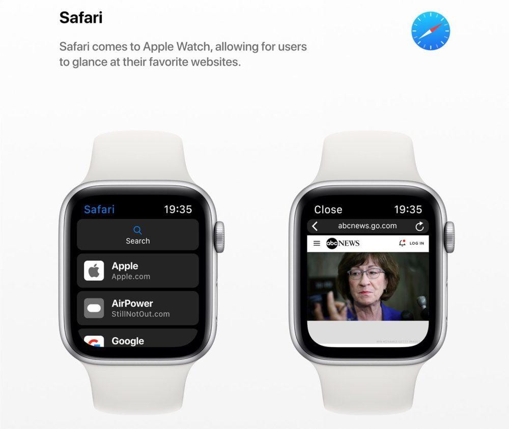 watchOS 6 Concept App Safari 1000x842 watchOS 6 : un concept invente de nouveaux cadrans, des anneaux dactivité revus et plus