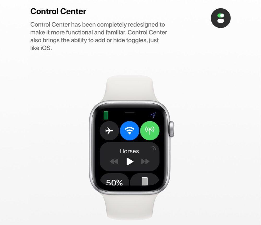 watchOS 6 Concept Centre de Controle 1000x864 watchOS 6 : un concept invente de nouveaux cadrans, des anneaux dactivité revus et plus