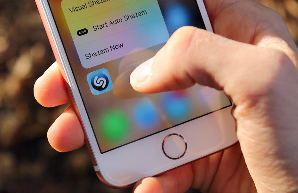 3D Touch iPhone 6s Shazam 1000x647 iPhone de 2019 : vers labandon du 3D Touch au profit du Haptic Touch ?