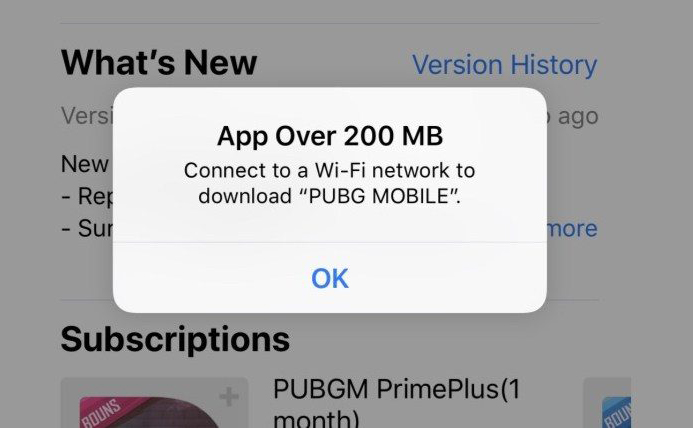 App Store Cellulaires Limites App Store : la limite de téléchargement sur les données cellulaires passe de 150 Mo à 200 Mo