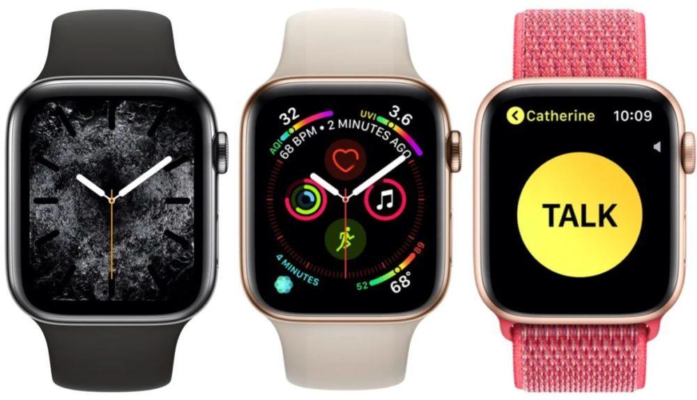 Apple Watch Series 4 Cadran 1000x574 Voici les nouveautés qui seront disponibles avec watchOS 6