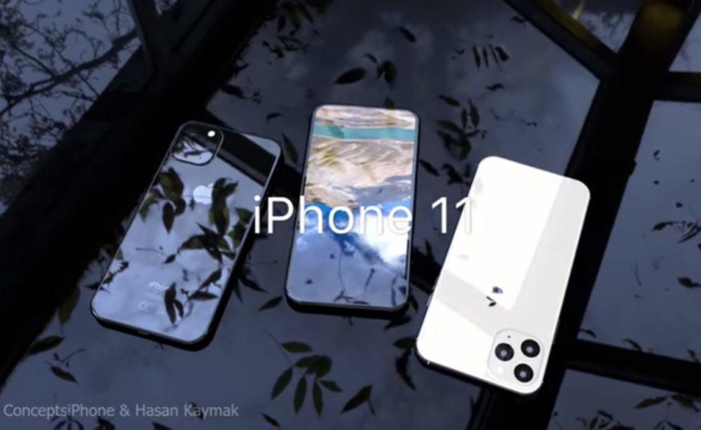 Concept 3D iPhone 11 1000x613 Un concept vidéo nous montre le rendu final de liPhone 11 en 3D