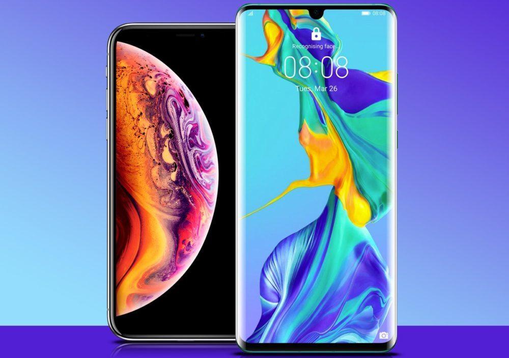 Huawei P30 Pro iPhone XS Max 1000x703 Ventes diPhone en baisse de 30% au Q2 2019 : Huawei redevient le 2e vendeur de smartphones