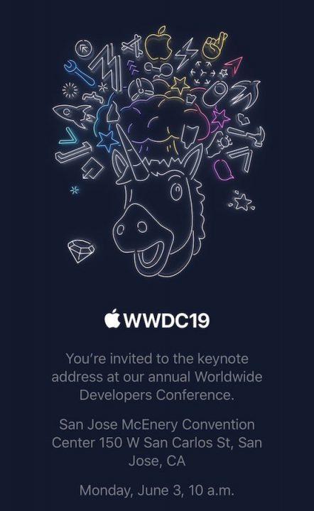 Invitation Apple Keynote WWDC 2019 WWDC 2019 : la date de la keynote du 3 juin confirmée par Apple