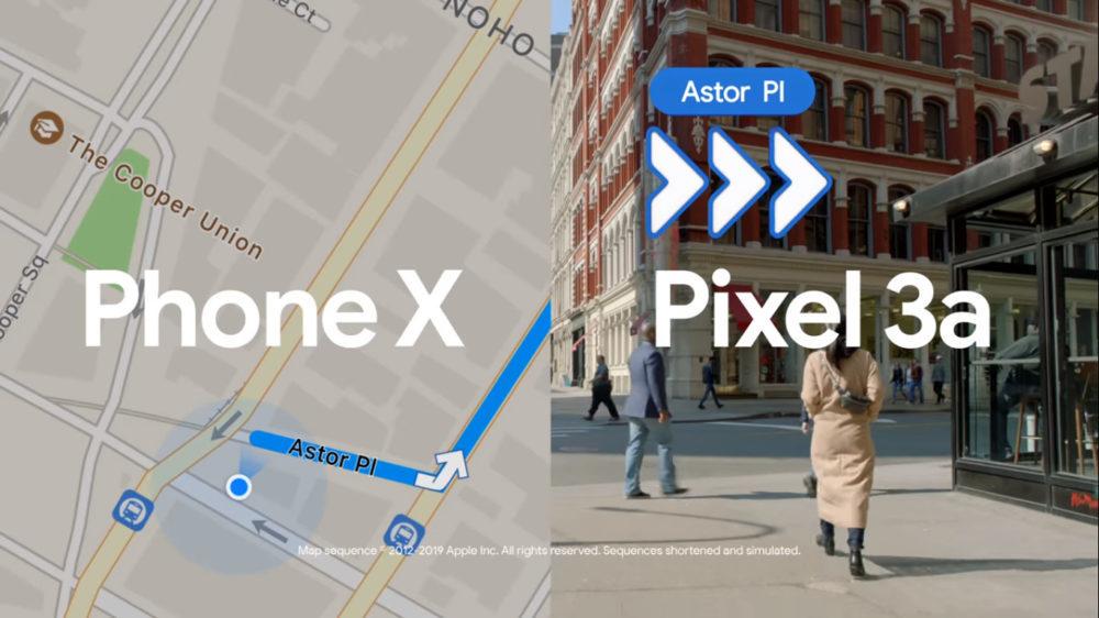 Pub Google Maps VS Plans 1000x562 Google met en face Google Maps et Plans dApple dans une pub vidéo