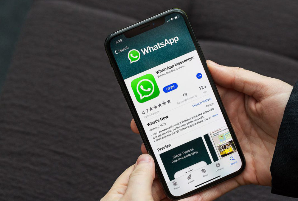 WhatsApp iPhone X App Store 1000x673 La version 2.21.71 de WhatsApp iOS met à jour les aperçus des images et les messages éphémères