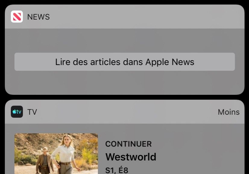 Widget Apple News en Panne Apple News : le widget est temporairement en panne sur iOS