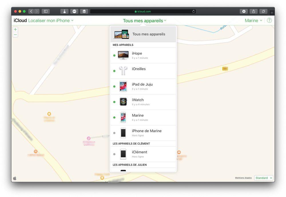 appreils localiser icloud Comment configurer et utiliser Localiser mon iPhone