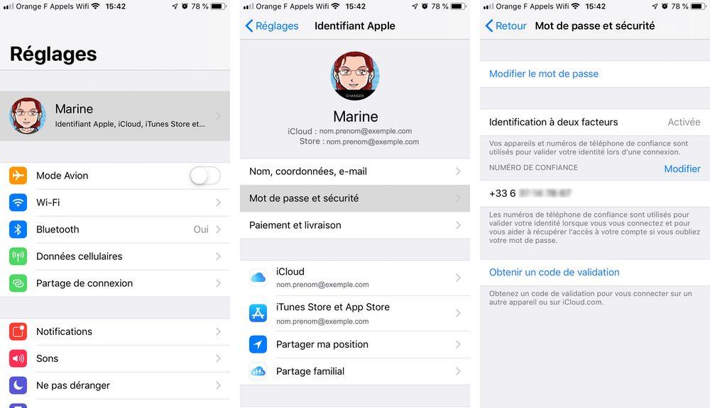 double authentification activee iphone Renforcer la sécurité de liPhone avec la double authentification