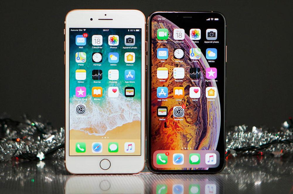 iPhone 8 Plus iPhone XS Max 1000x661 Les ventes diPhone subiront une baisse de 12% pour lannée 2019