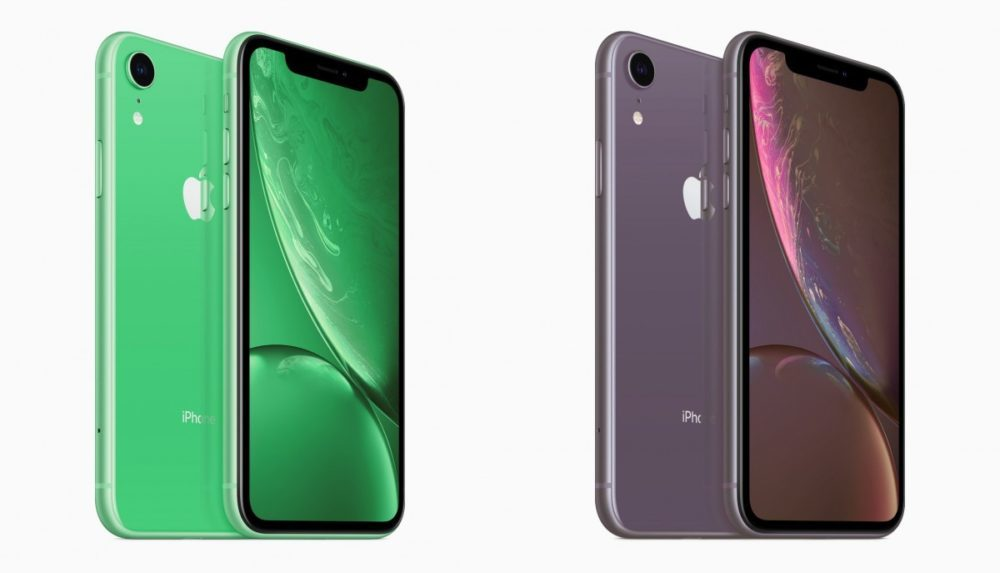 iPhone XR 2019 Vert Lavande 1000x573 Des rendus montrent les iPhone XR 2019 vert et lavande
