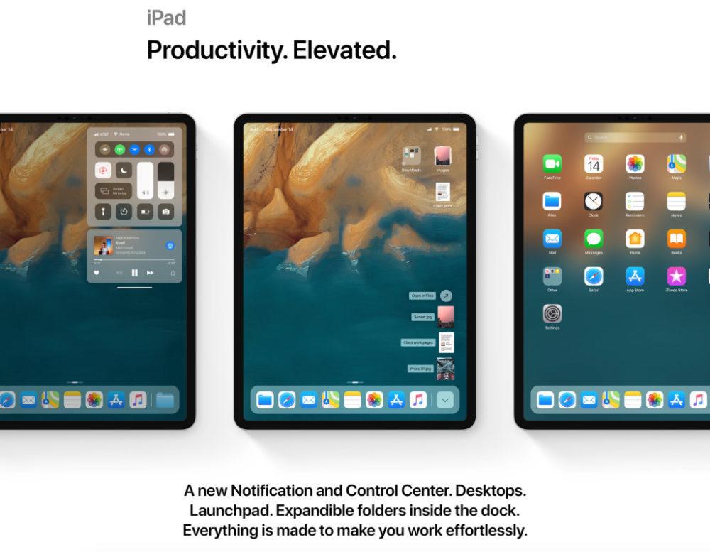 ios 13 concept ipad 1000x777 Un concept iOS 13 permet de visualiser les fonctionnalités quApple dévoilerait à la WWDC