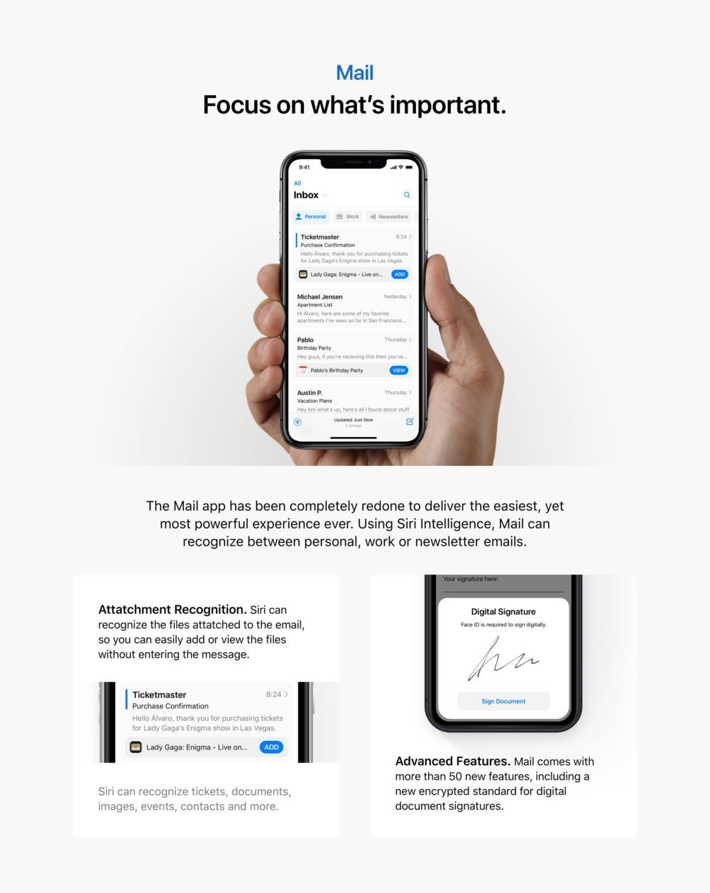 ios 13 concept mail app 1000x1257 Un concept iOS 13 permet de visualiser les fonctionnalités quApple dévoilerait à la WWDC
