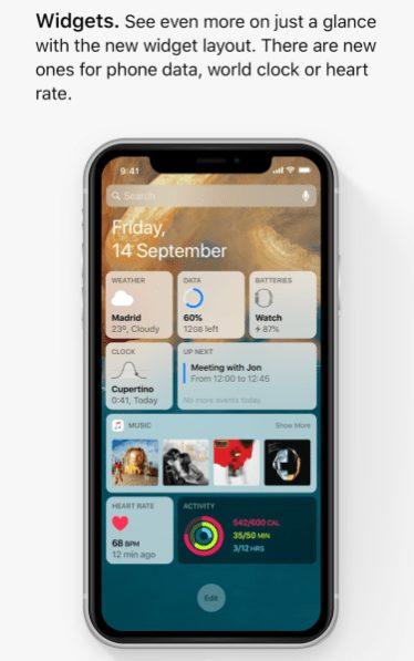 ios 13 concept widgets Un concept iOS 13 permet de visualiser les fonctionnalités quApple dévoilerait à la WWDC
