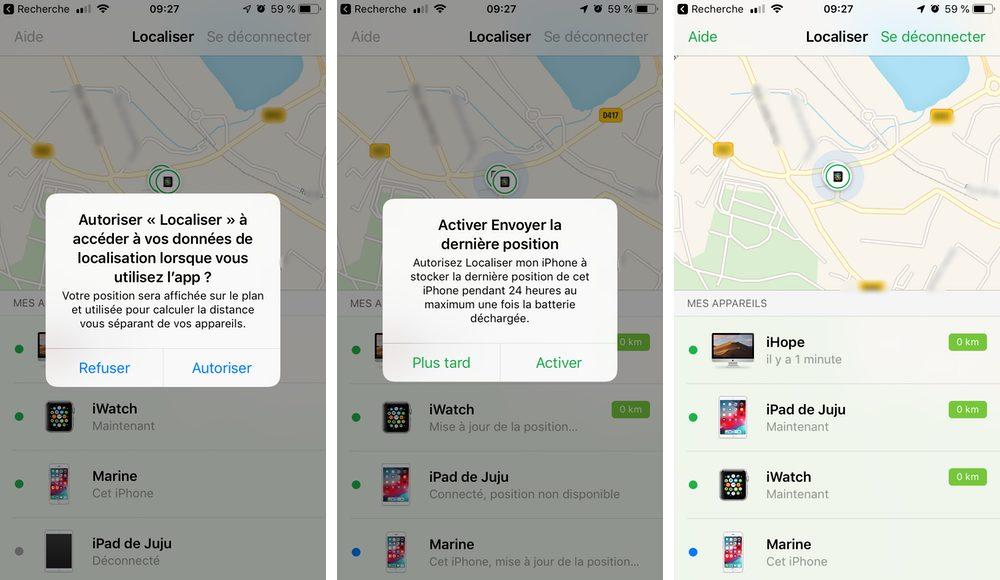 localiser appareils 1 Comment configurer et utiliser Localiser mon iPhone