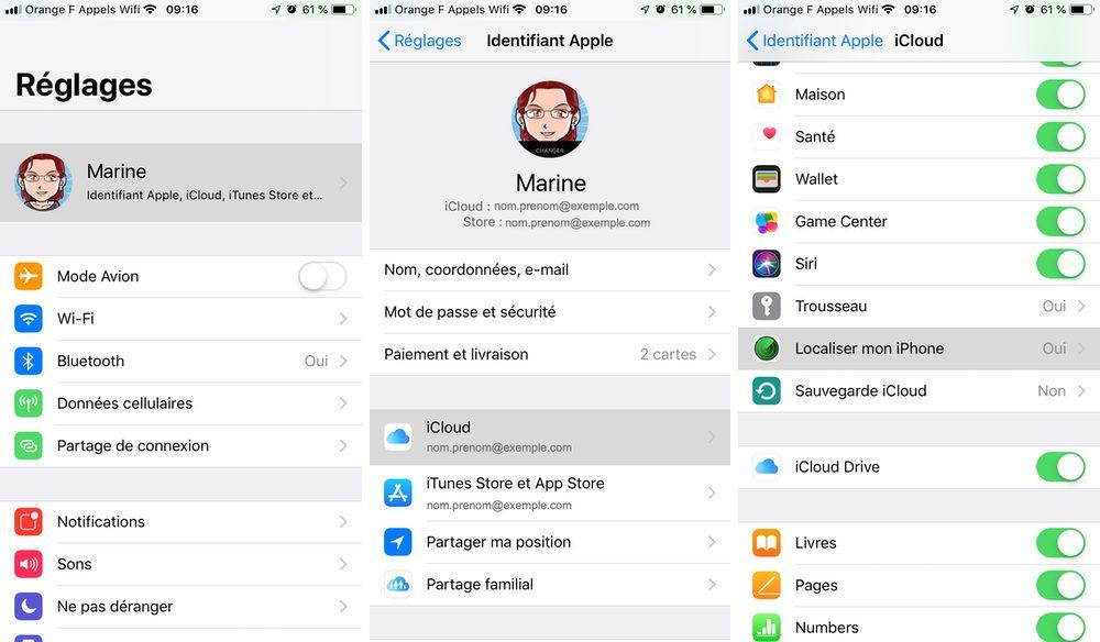 localiser iphone reglages Comment configurer et utiliser Localiser mon iPhone
