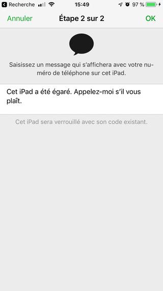 mode perdu message Comment configurer et utiliser Localiser mon iPhone