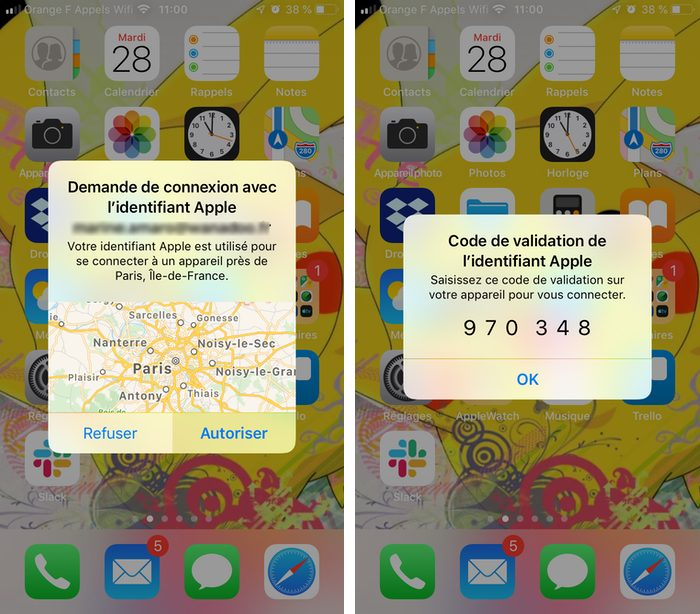 notifications identifcation iphone Renforcer la sécurité de liPhone avec la double authentification