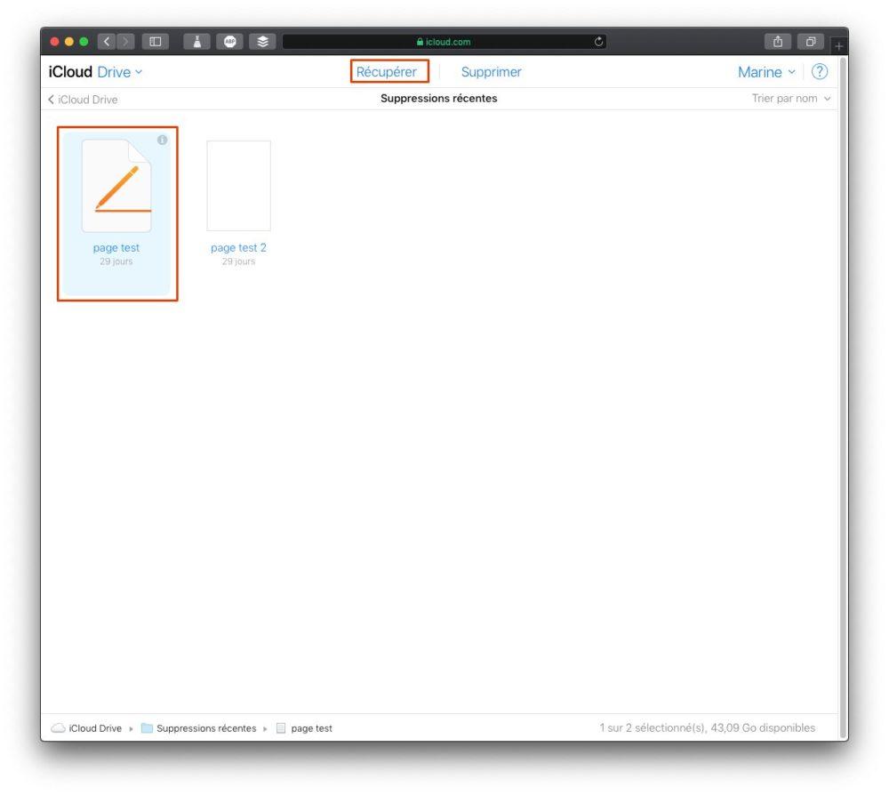 recuperer fichier icloud Comment récupérer des fichiers iCloud supprimés