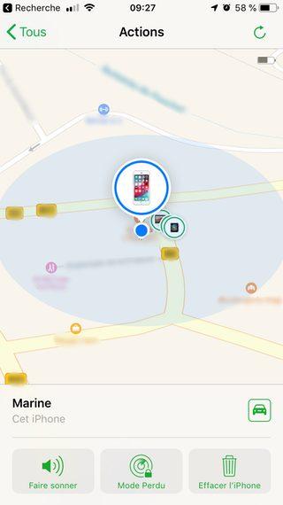 sélectionner appareil Comment configurer et utiliser Localiser mon iPhone