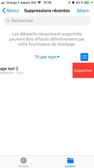 suppression definitive glisser iphone Comment supprimer définitivement des fichiers iCloud Drive
