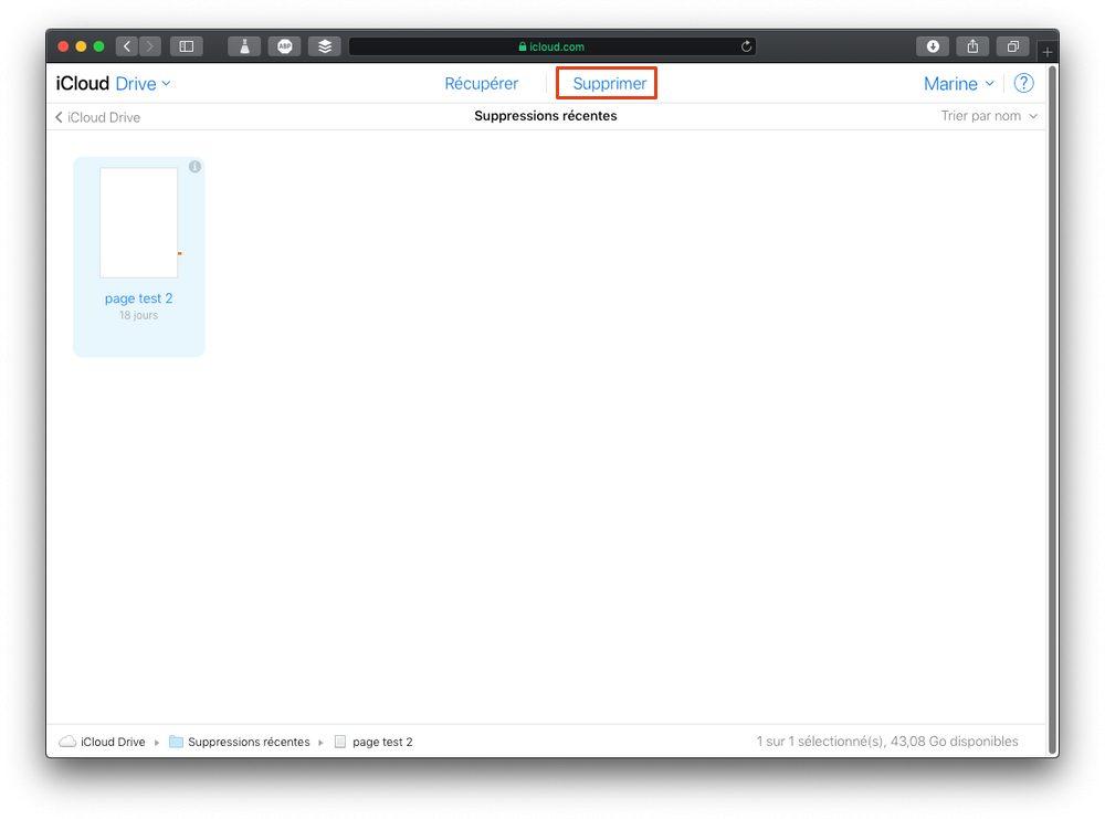 supprimer fichier icloud Comment supprimer définitivement des fichiers iCloud Drive