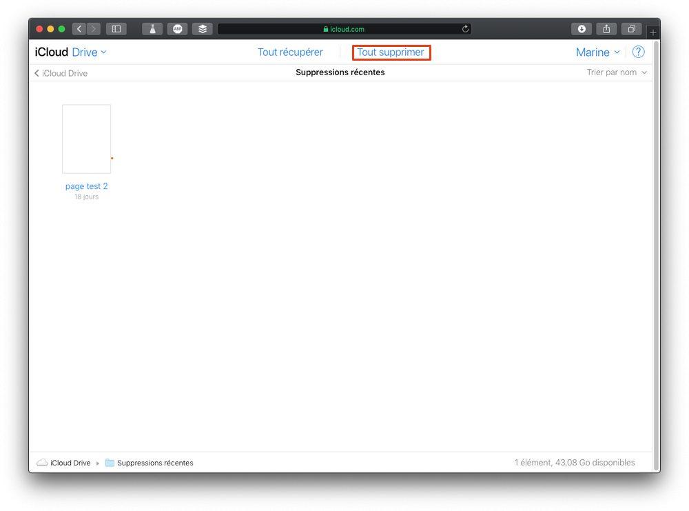 tout supprimer icloud Comment supprimer définitivement des fichiers iCloud Drive