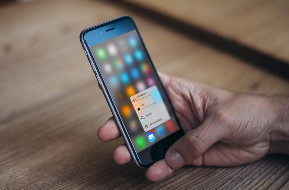 3d Touch iPhone 6s 1000x657 iOS 13 chuchote labandon de 3D Touch sur les prochains iPhone