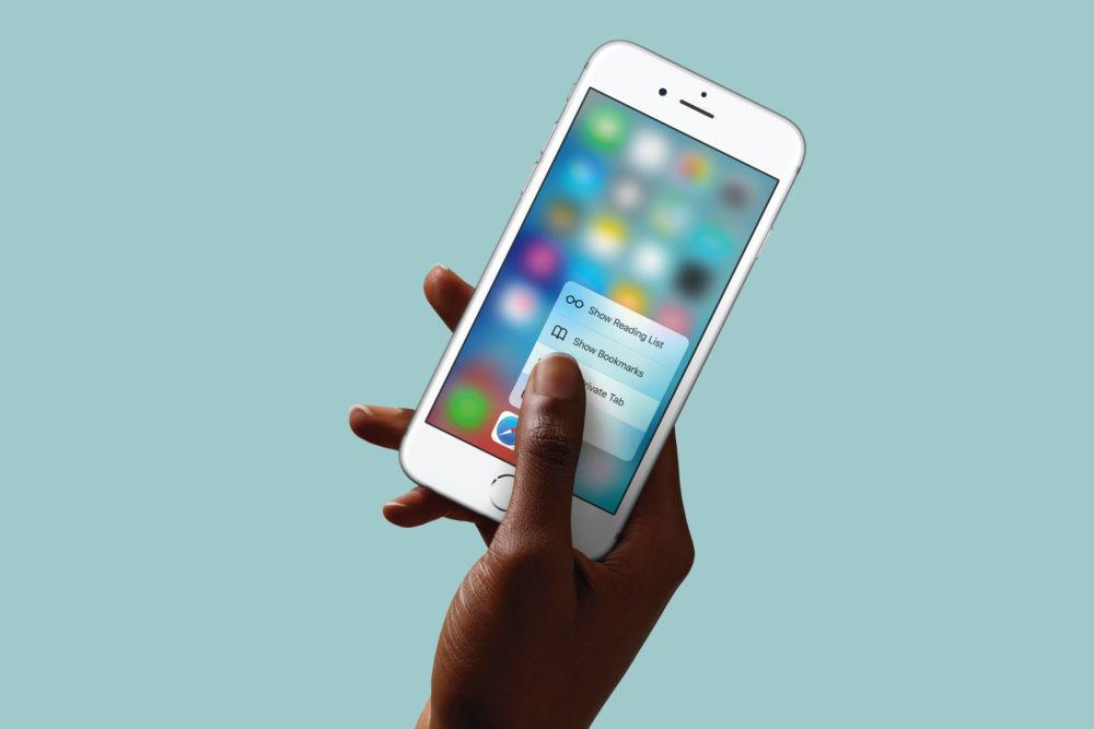 3d touch iPhone 1000x667 iOS 13 : 3D Touch sera de retour avec la prochaine bêta